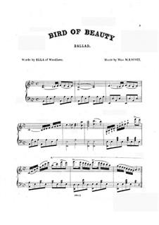 Bird of Beauty: Für Stimme und Klavier by M.B. Scott