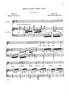 Annie Dear, Good Bye: Annie Dear, Good Bye by William Vincent Wallace