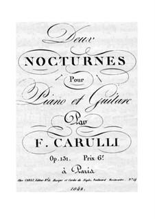 Nocturne für Gitarre und Klavier Nr.1, Op.131: Gitarrenstimme by Ferdinando Carulli