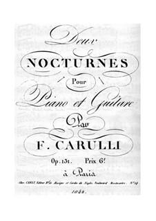 Nocturne für Gitarre und Klavier Nr.1, Op.131: Klavierstimme by Ferdinando Carulli