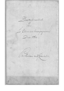 Divertissement für Flöte und Cembalo Nr.4: Divertissement für Flöte und Cembalo Nr.4 by Simoni dall Croubelis
