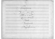 Sinfonie in D-Dur: Sinfonie in D-Dur by Simoni dall Croubelis