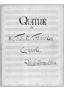 Quartett für vier Flöten: Quartett für vier Flöten by Simoni dall Croubelis