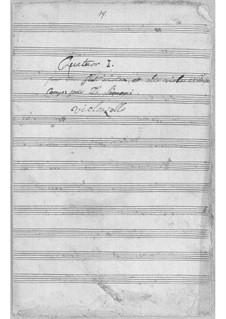 Quartett für Flöte und Streicher Nr.1 in D-Dur: Quartett für Flöte und Streicher Nr.1 in D-Dur by Simoni dall Croubelis