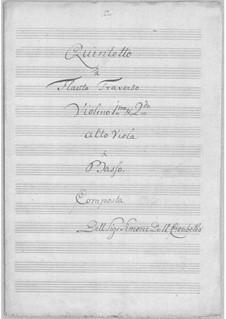Quintett für Flöte und Streicher in D-Dur: Quintett für Flöte und Streicher in D-Dur by Simoni dall Croubelis