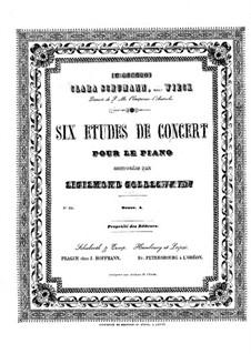 Sechs Konzert-Etüden, Op.4: Sechs Konzert-Etüden by Sigismond Goldschmidt