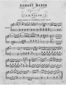 Nahant March: Nahant March by Johann Heinrich Walsh