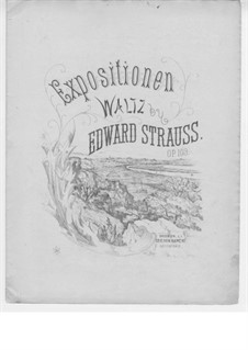 Expositionen Walzer für Klavier, Op.103: Expositionen Walzer für Klavier by Eduard Strauss