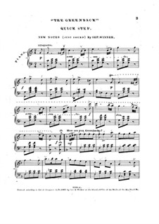 The Greenback for Piano: The Greenback for Piano by Septimus Winner
