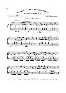 Listen to the Mocking Bird: Version für Klavier by Septimus Winner