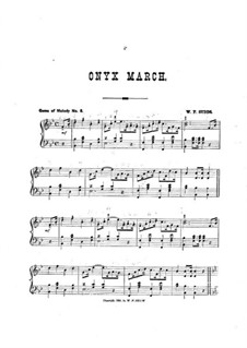 Onyx March: Onyx March by William F. Sudds