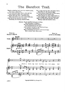 The Barefoot Trail, for Voice and Piano: The Barefoot Trail, for Voice and Piano by Alvin S. Wiggers