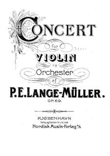 Konzert für Violine und Orchester in C-Dur, Op.69: Version für Violine und Klavier by Peter Erasmus Lange-Müller