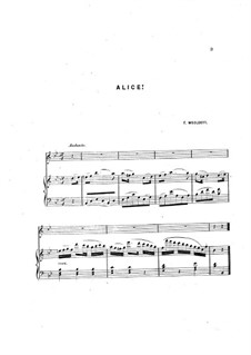 Alice! Song: Alice! Song by Francis Woolcott