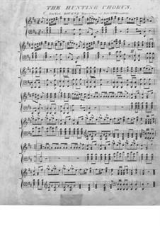 Akt III, Nr.15 Jägerchor: Für Klavier by Carl Maria von Weber