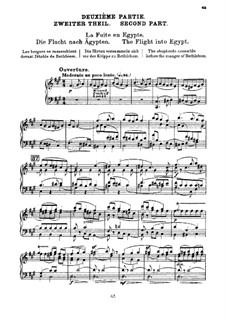 L'enfance du Christ (Die Kindheit Christi), H.130 Op.25: Die Flucht nach Ägupten, für Singstimmen und Klavier by Hector Berlioz
