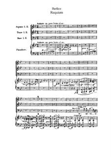 Grosse Totenmesse (oder Requiem), H.75 Op.5: Nr.1-5 für Chor und Klavier by Hector Berlioz