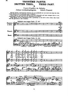 Romeo und Julie, H.79 Op.17: Teil III, für Stimmen und Klavier by Hector Berlioz