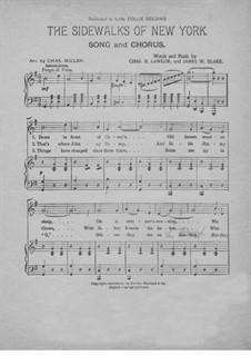 The Sidewalks of New York: Für Stimme und Klavier by Charles B. Lawlor