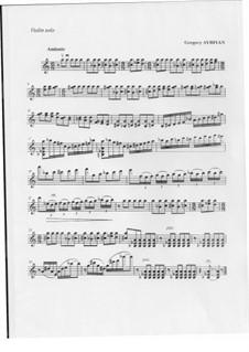 Andante for violin solo: Andante for violin solo by Gregory Ayriyan