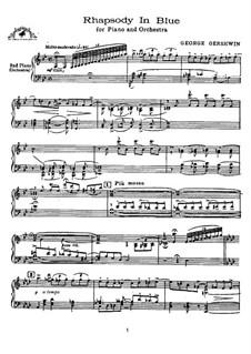 Rhapsody in Blue: Für zwei Klaviere, vierhändig by George Gershwin