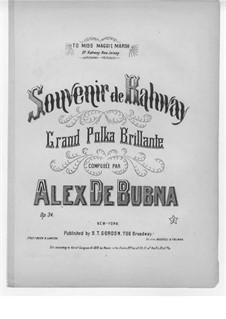 Souvenir de Rahway, Op.34: Souvenir de Rahway by Alex de Bubna