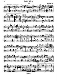 Sonate für Klavier Nr.54 in G-Dur 'Bossler Sonatas', Hob.XVI/40: Für einen Interpreten by Joseph Haydn