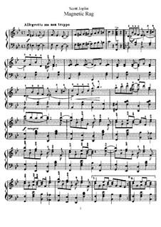 Magnetic Rag: Für Klavier (mit Applikatur) by Scott Joplin