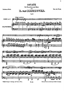 Sonate für Waldhorn und Klavier, Op.17: Partitur by Ludwig van Beethoven