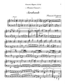 Konzert für Cembalo Nr.1: Sarabande und Gavotte by François Couperin
