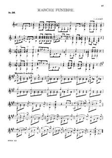Gitarren-Album, Op.27: Nr.36 Trauermarsch by Charles James Dorn