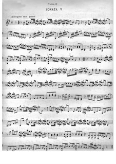 Sechs Sonaten für zwei Violinen: Sonate Nr.5 by Jean-Marie Leclair