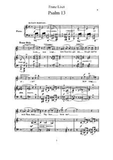 Psalm Nr.13 'Herr, wie lange?', S.13: Psalm Nr.13 'Herr, wie lange?' by Franz Liszt