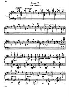 Grosse Etüden nach Paganini, S.141: Nr.5 in E-Dur 'La chasse' by Franz Liszt