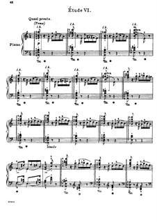 Grosse Etüden nach Paganini, S.141: Nr.6 in a-Moll by Franz Liszt