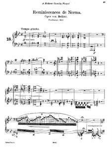 Réminiscences de 'Norma'. Transcription on Themes by Bellini, S.394: Für Klavier by Franz Liszt