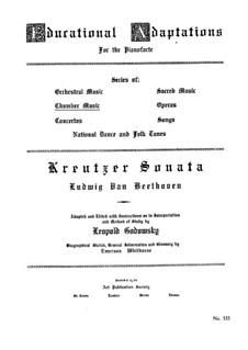 Sonate für Violine und Klavier Nr.9 'Kreutzer', Op.47: Version für Klavier by Ludwig van Beethoven