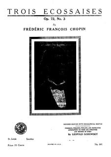 Drei Ecossaisen, Op. posth.72 No.3: Ecossaise in D-Dur by Frédéric Chopin