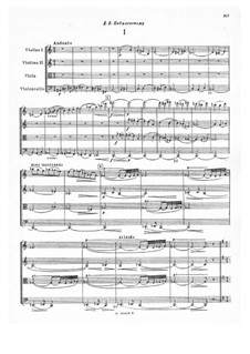 Streichquartett Nr.12, Op.77: Partitur by Nikolai Miaskowski