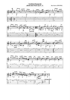Gerbe des fleurs, Op.41: No.1 Cantinela española by José Ferrer