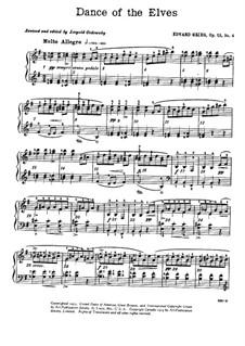 Lyrische Stücke, Op.12: Nr.4 Elfentanz by Edvard Grieg