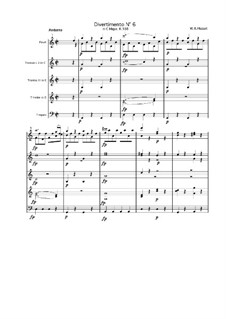 Divertissement in C-Dur, K.188: Teil IV by Wolfgang Amadeus Mozart