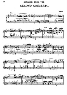 Konzert für Klavier und Orchester Nr.20 in d-Moll, K.466: Teil II. Bearbeitung für Klavier by Wolfgang Amadeus Mozart