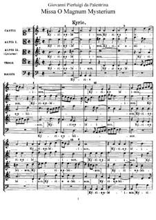 Missa O magnum mysterium: Missa O magnum mysterium by Giovanni da Palestrina