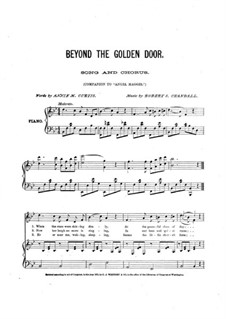 Beyond the Golden Door for Voice, Choir and Piano: Beyond the Golden Door for Voice, Choir and Piano by Robert S. Crandall