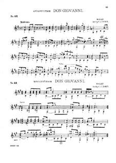 Fragmente: Andante und Menuett, für Gitarre by Wolfgang Amadeus Mozart