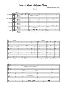 Anthem für die Trauerfeier der Königin Maria, Z.860: Marsch und Kanzone by Henry Purcell