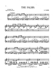 Palm Branches (The Palms): Für Klavier by Jean-Baptiste Faure
