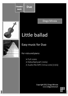 Little ballad: For viola and piano. Easy jazz – Full score + detached part by Diego Minoia