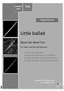 Little ballad: Trio for flute, clarinet, bassoon – Full score by Diego Minoia